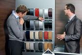 Muestra de color de muestra comercial al cliente — Foto de Stock