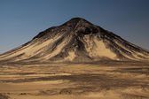 Hill in Black desert — Stock Photo