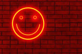 Neon smile — Stock Photo