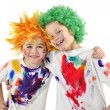 Stock Photo: Little-messy-artists