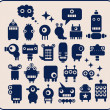 Royalty-Free Stock Векторное изображение: Robots, monsters, aliens collection #1.