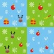 Four christmas backgrounds. — Stock Vector