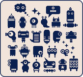 Robots, monsters, aliens collection #1. — Vector de stock