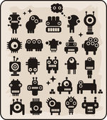 Robots, monsters, aliens collection #3. — Vector de stock