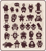 Robots, monsters, aliens collection #4. — Vector de stock