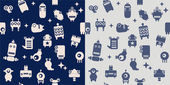 Space robots, monsters, aliens. — Stock Vector