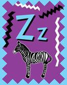 Flash Card Letter Z — Stock Vector