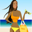 Swimsuit Girl 1 — Stock Vector