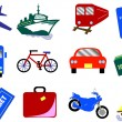 Stock Vector: 12 Travel Icons