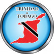 Trinidad Tobago Round Button — Stock Vector