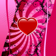 Valentine Heart Background — Imagen vectorial