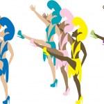Las Vegas Dancers 2 — Stock Vector