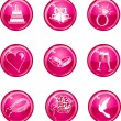 Royalty-Free Stock Vector Image: Wedding Button Icons
