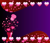 Valentine Champagne Background 2 — Stock vektor