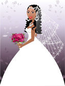 Wedding Gown 2 — Vector de stock
