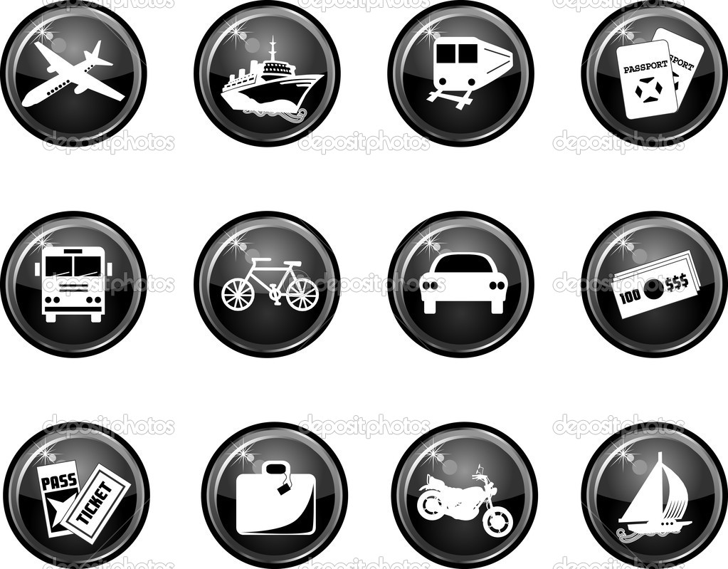 Travel icon Buttons. Vector that can be used as web icons, buttons or anything else.  — Stock Vector #2499519