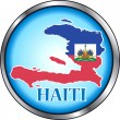 Haiti Round Button — Stock Vector