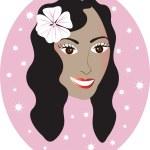 fille hawaïenne — Vecteur