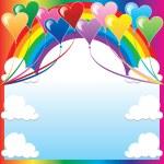 Heart Balloon Background — Stock Vector