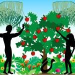 Adam & Eve Silhouettes — Stock Vector #2500314