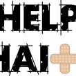 Help Haiti Text 4 - Stock Vector