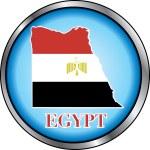 Egypt Round Button — Stock Vector