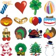 Royalty-Free Stock Vector Image: Holiday Icons 3