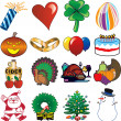 Stock Vector: Holiday Icons 3