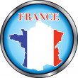 France Round Button — Stock Vector