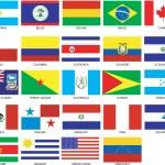 24 Americas Flags — Stock Vector