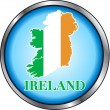 Stock Vector: Ireland Round Button