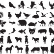 Royalty-Free Stock Vector Image: Animal Silhouettes