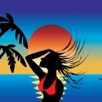 Swimsuit Girl 1 — Stock Vector #2500610