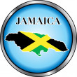 Jamaica Round Button — Stock Vector
