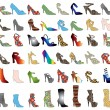 Shoe Silhouettes 3 - Stock Vector
