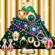 Stock Vector: Jewelry Christmas Tree 1