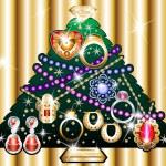 Jewelry Christmas Tree 1 — Stock Vector