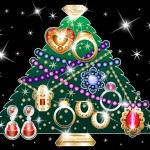 Jewelry Christmas Tree 2 — Stock Vector