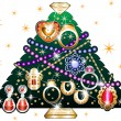 Stock Vector: Jewelry Christmas Tree 3