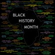 Black History Month Collage — Vector de stock #2500876