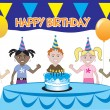 Royalty-Free Stock Imagem Vetorial: Kids Party 1