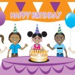 Royalty-Free Stock Vector Image: Kids Party 2
