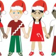 Royalty-Free Stock 矢量图片: Christmas Kids United 3