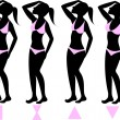 Body Types 1 — Stock Vector