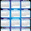 2010 Calendar - Stock Vector