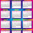 2010 Calendar 2 - Stock Vector