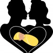 Marriage Love baby — Imagen vectorial