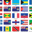 Caribbean Flags — Vector de stock