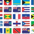 Caribbean Flags — Stock vektor