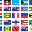 Карибский флаги — Cтоковый вектор
